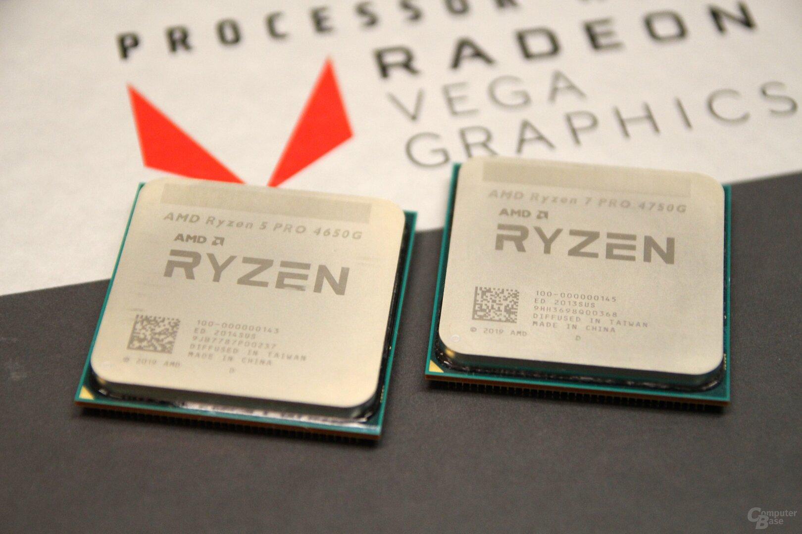 AMD Ryzen 5 Pro 4650G und Ryzen 7 Pro 4750G