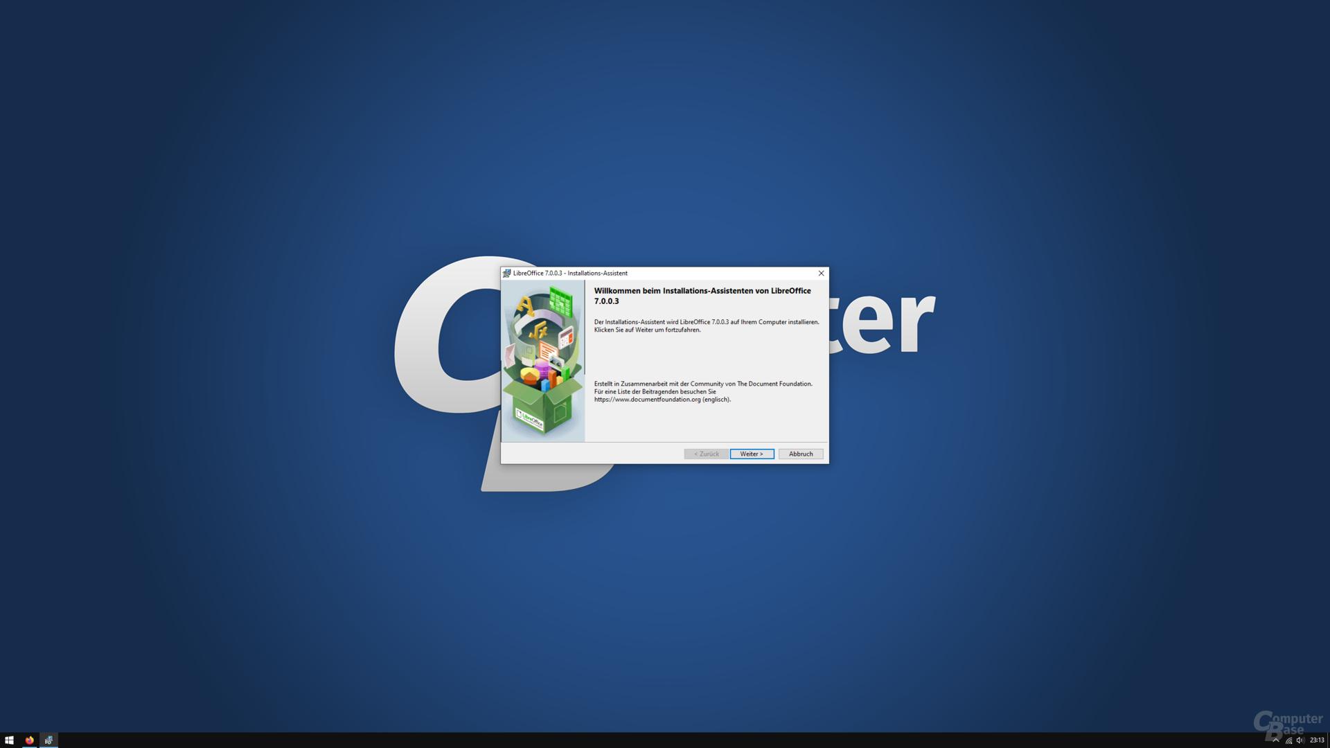 LibreOffice 7.0.0.3 – Installationsprozess