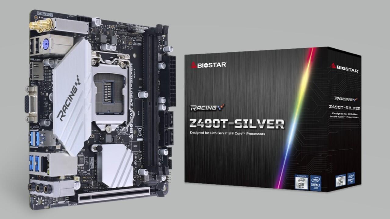 Mainboards mit Z490: Populäres Finish in Silber von Biostar zweifach aufgelegt
