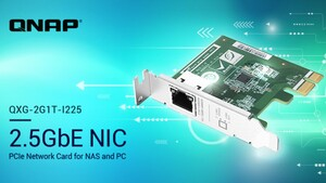 QNAP QXG-2G1T-I225: 2,5-GbE-Netzwerkkarte mit Intel-NIC für NAS und PC