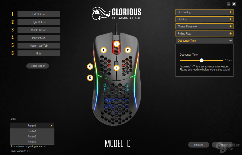 Glorious Model D- Software