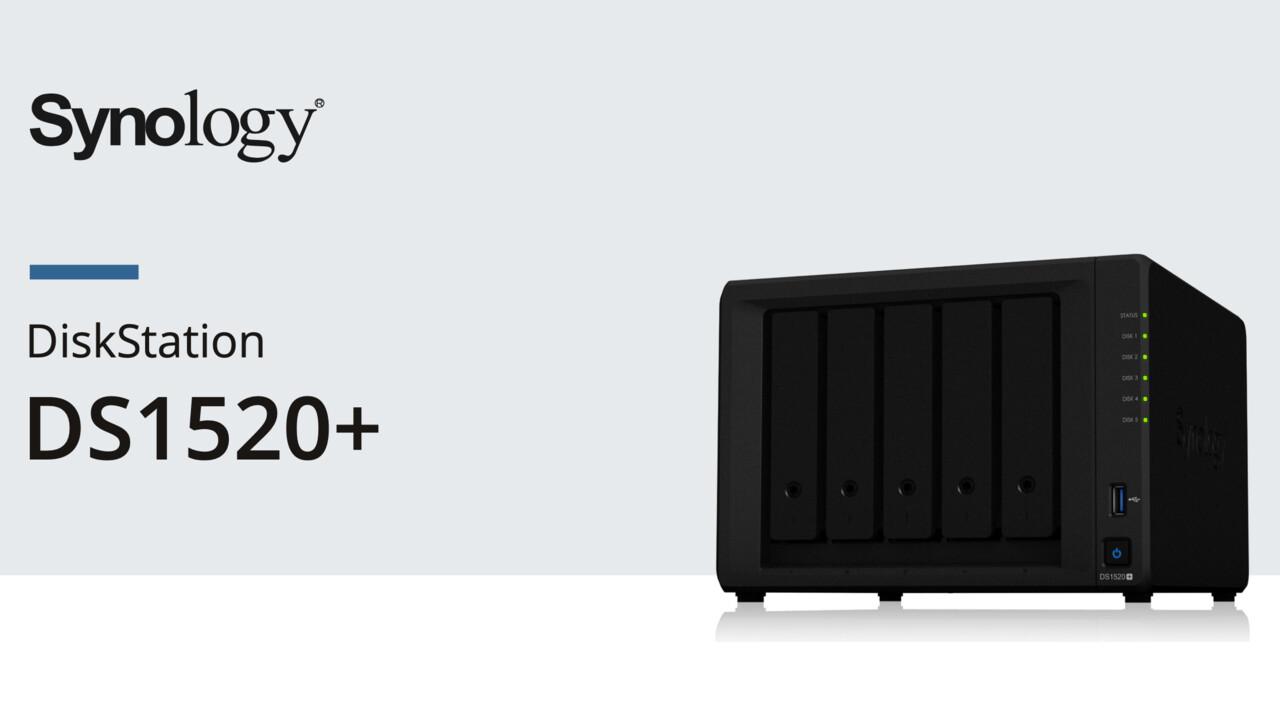 Synology DS1520+: Vier LAN-Anschlüsse für fünf Festplatten