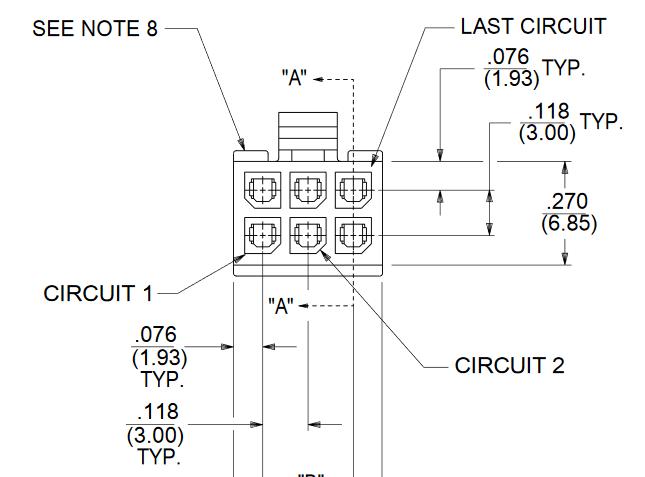 Molex Micro-Fit Steckerabmessungen