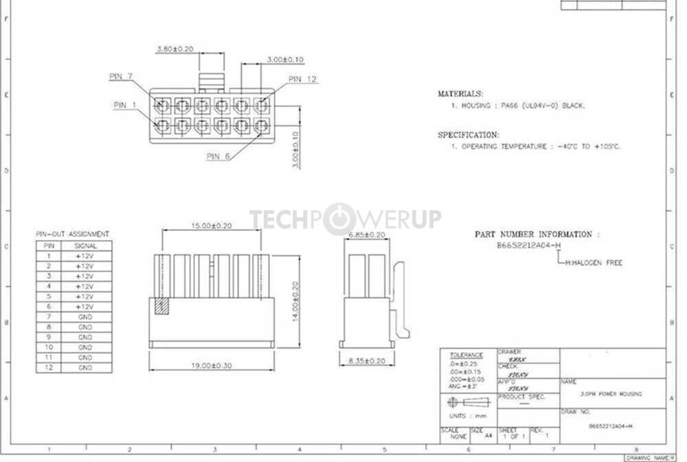 Molex Micro-Fit 12-Pin-Stecker