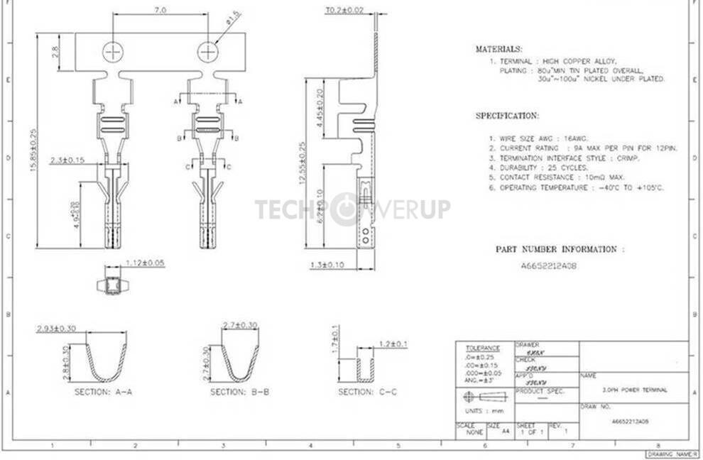 Molex Micro-Fit Terminal