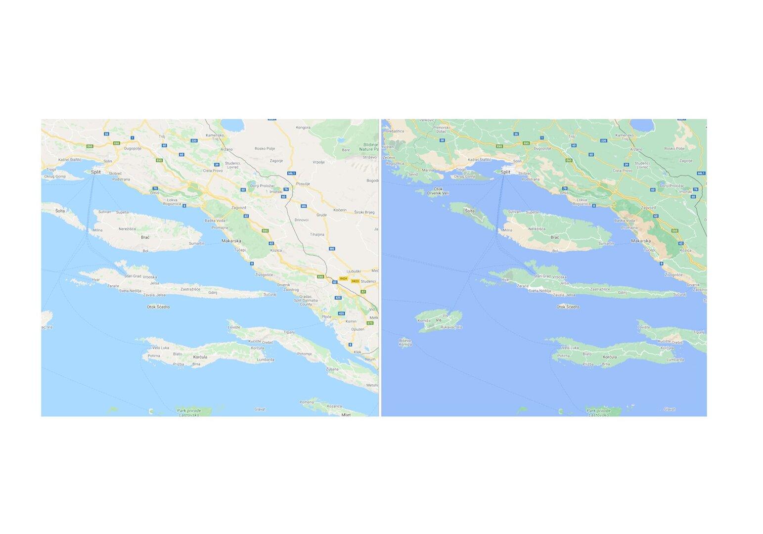 Neue Kartenansicht für Kroatien