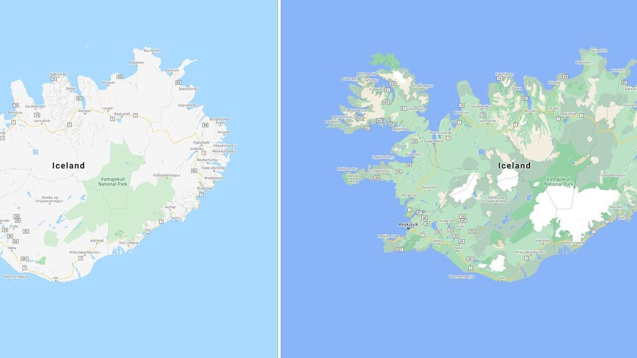 Google Maps: Mehr Details für Natur und Städte in der Kartenansicht