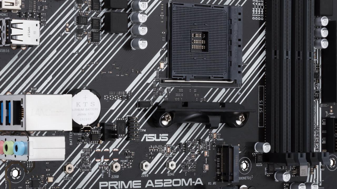 A520-Mainboards ab 69 Euro: Asus wirbt mit großem BIOS für Zen-3-CPU/APU
