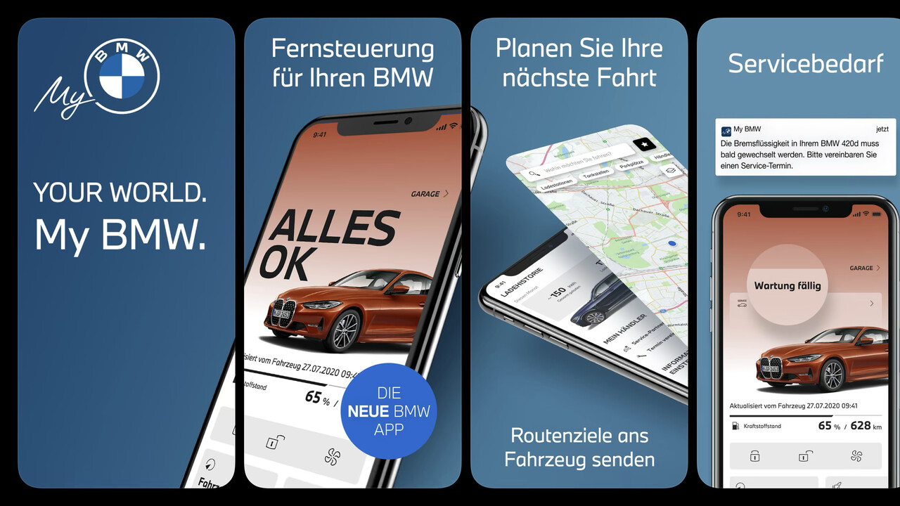 My BMW: Neue App löst sukzessive BMW Connected ab