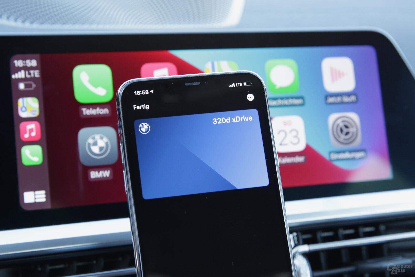 Autoschlüssel als Karte in der Wallet-App