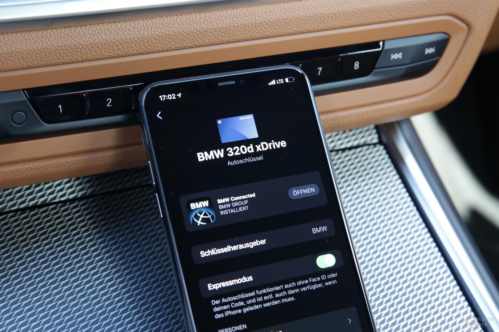 Digital Key nach der Einrichtung in der Apple Wallet