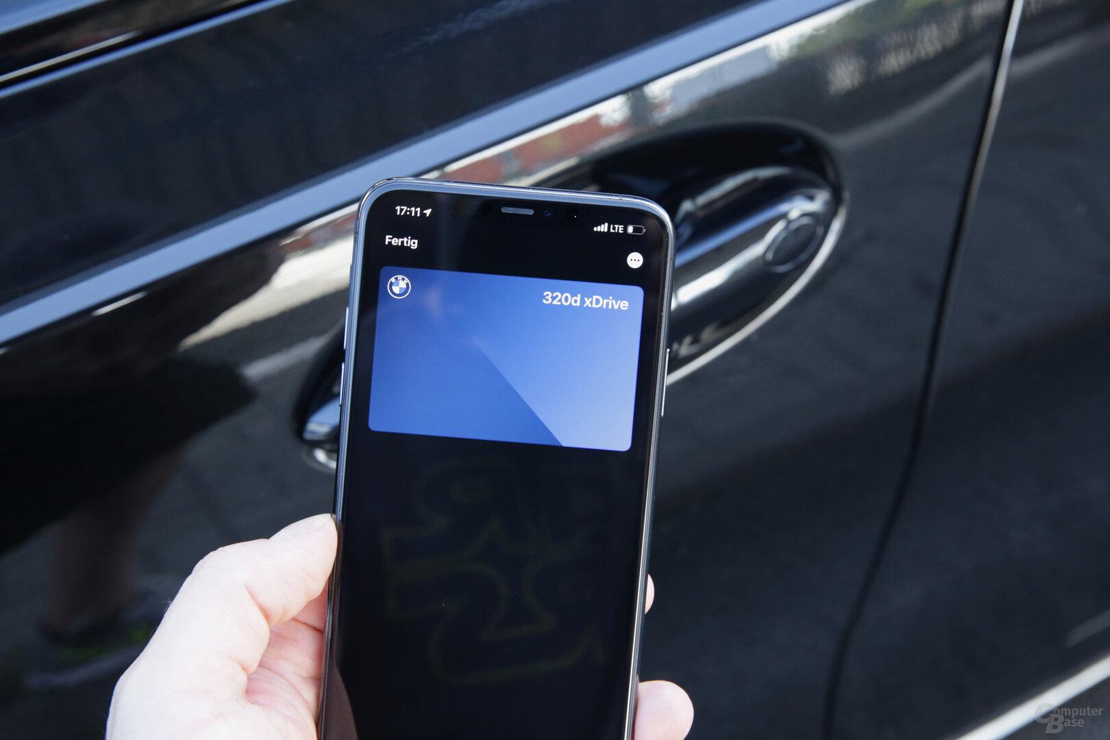 NFC-Schnittstelle in der Fahrertür