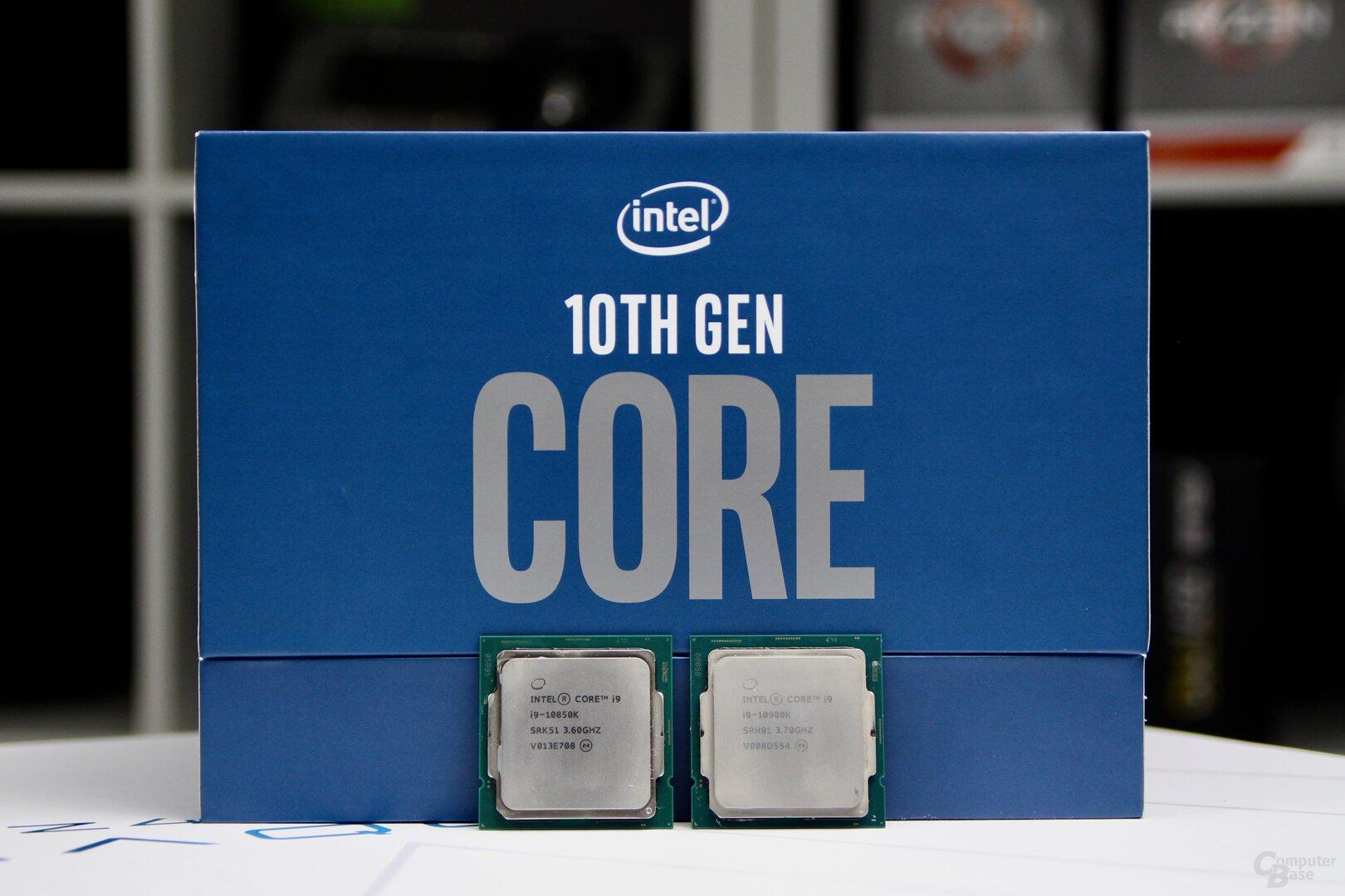 Intel Core i9-10900K und sein kleiner Bruder 10850K