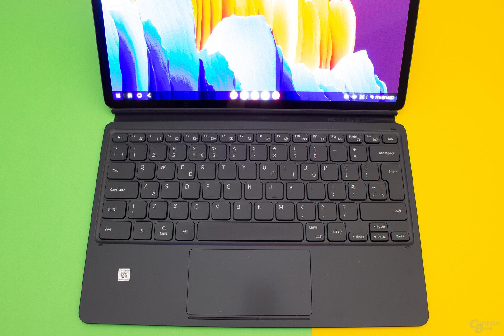 Auf der Tastatur lassen sich auch lange Texte trotz geringem Hub gut schreiben