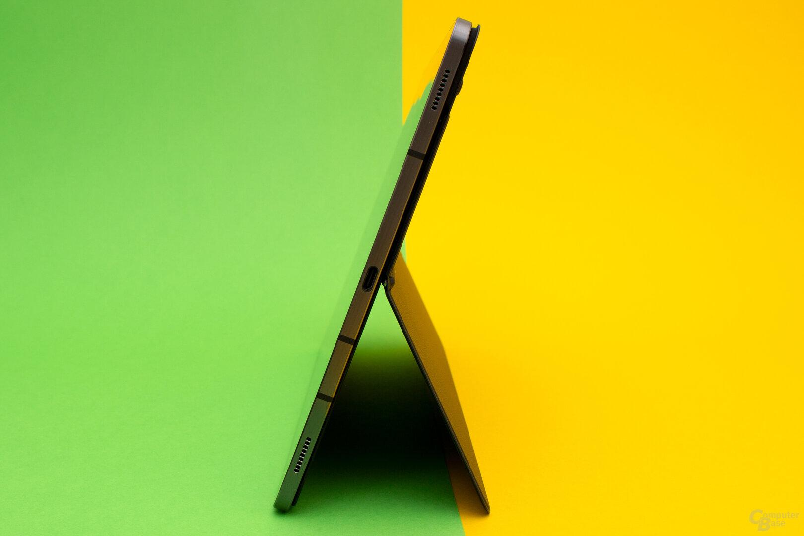 Auch das neue Galaxy Tab verfügt über jeweils zwei seitliche Lautsprecher
