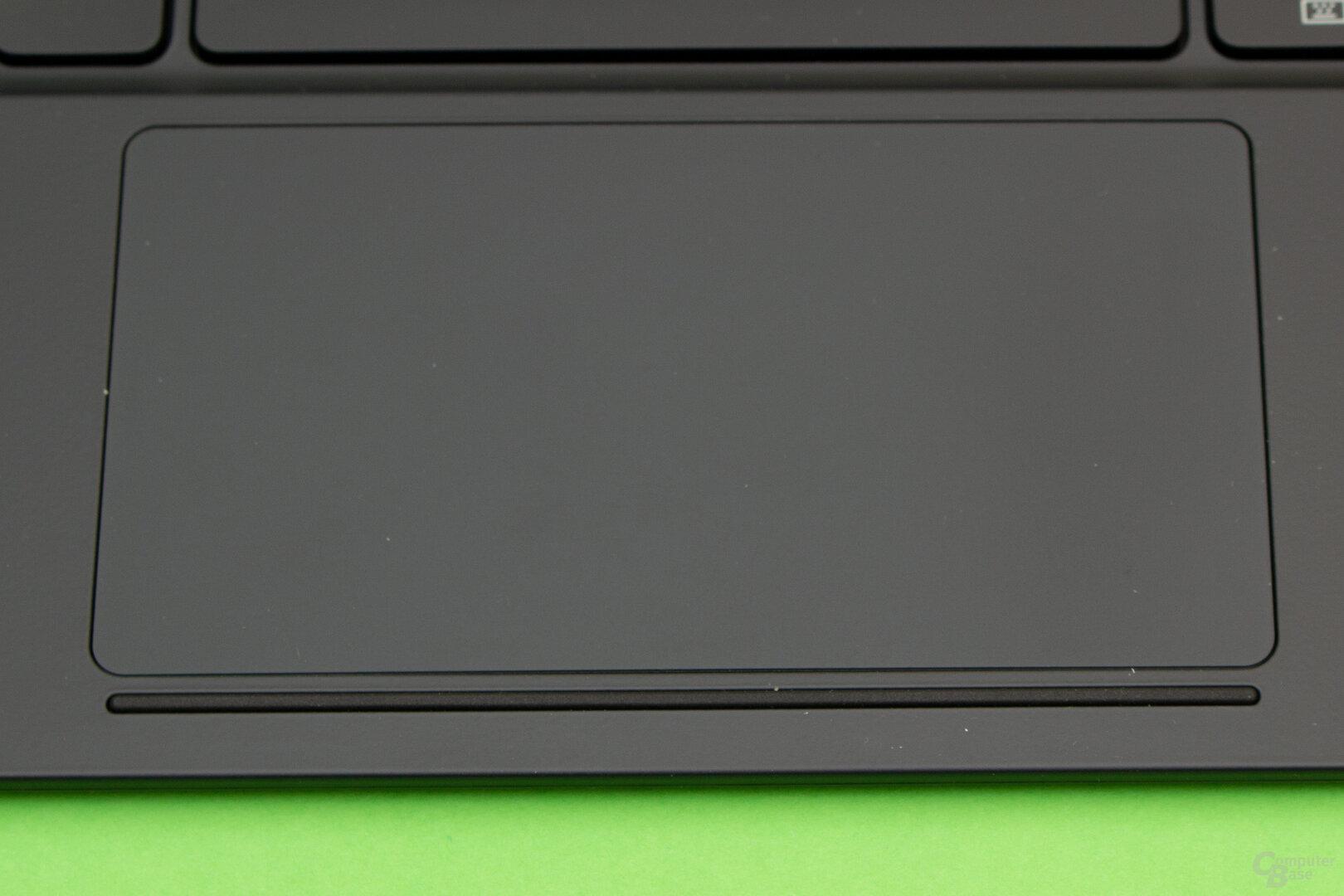 Das Touchpad des Book Cover Keyboard lässt grundlegende Funktionen vermissen