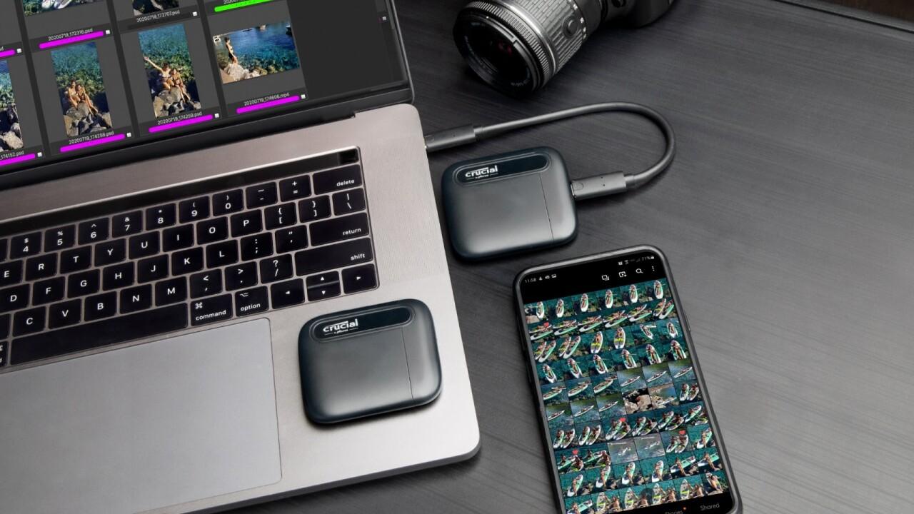 Externe SSD: Crucial X6 Portable ist kleiner, leichter und langsamer als X8