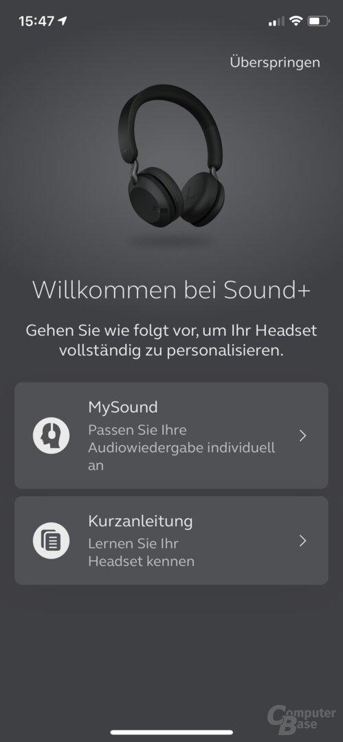 Jabra Sound+ App mit Elite 45h