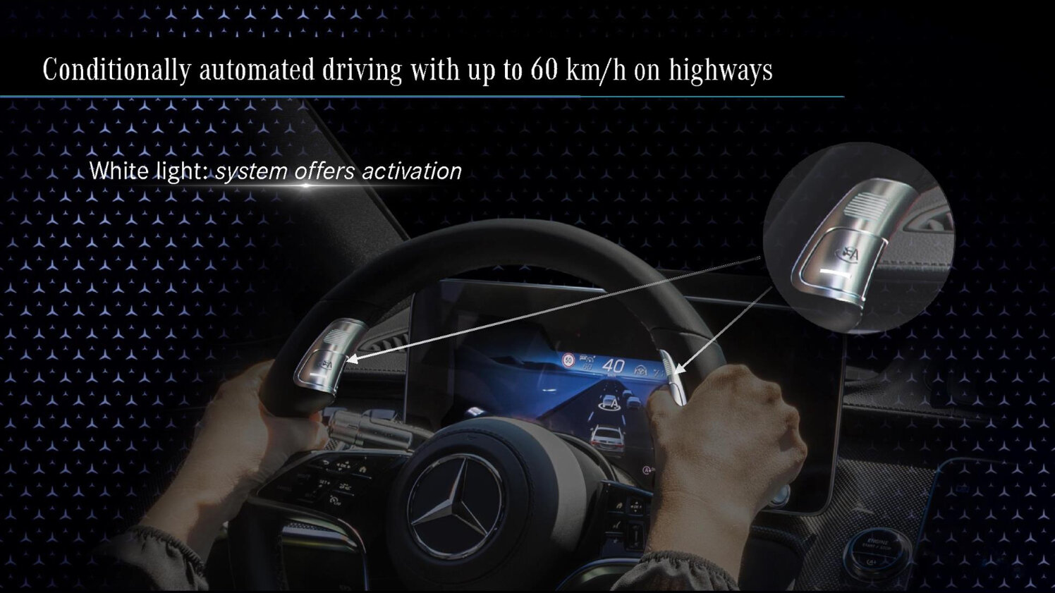 Neues Lenkrad mit Drive Pilot Bedienelementen