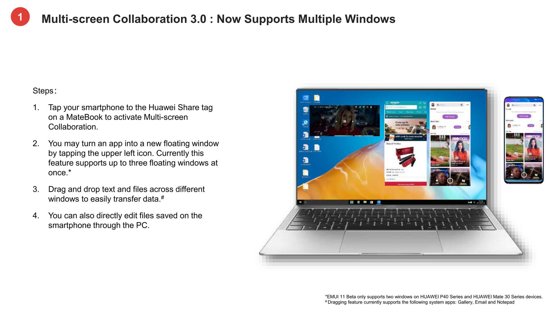 Multi-Screen-Colaboration mit mehreren Fenstern unter Windows 10