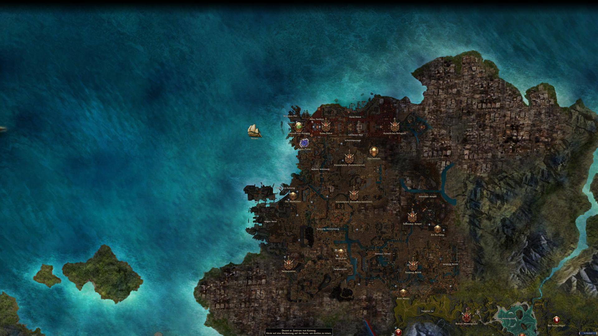 Der Kontinent Cantha aus Guild Wars: Factions