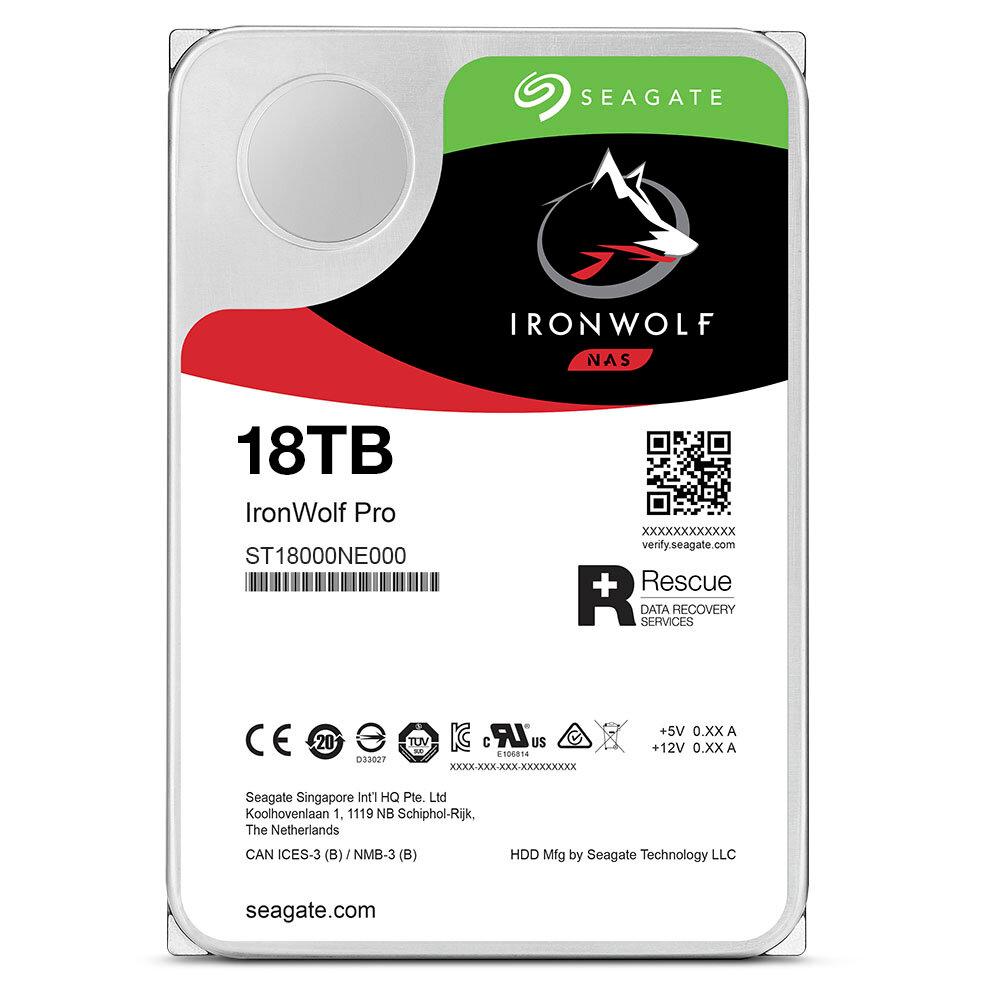 IronWolf Pro HDD mit 18 TB