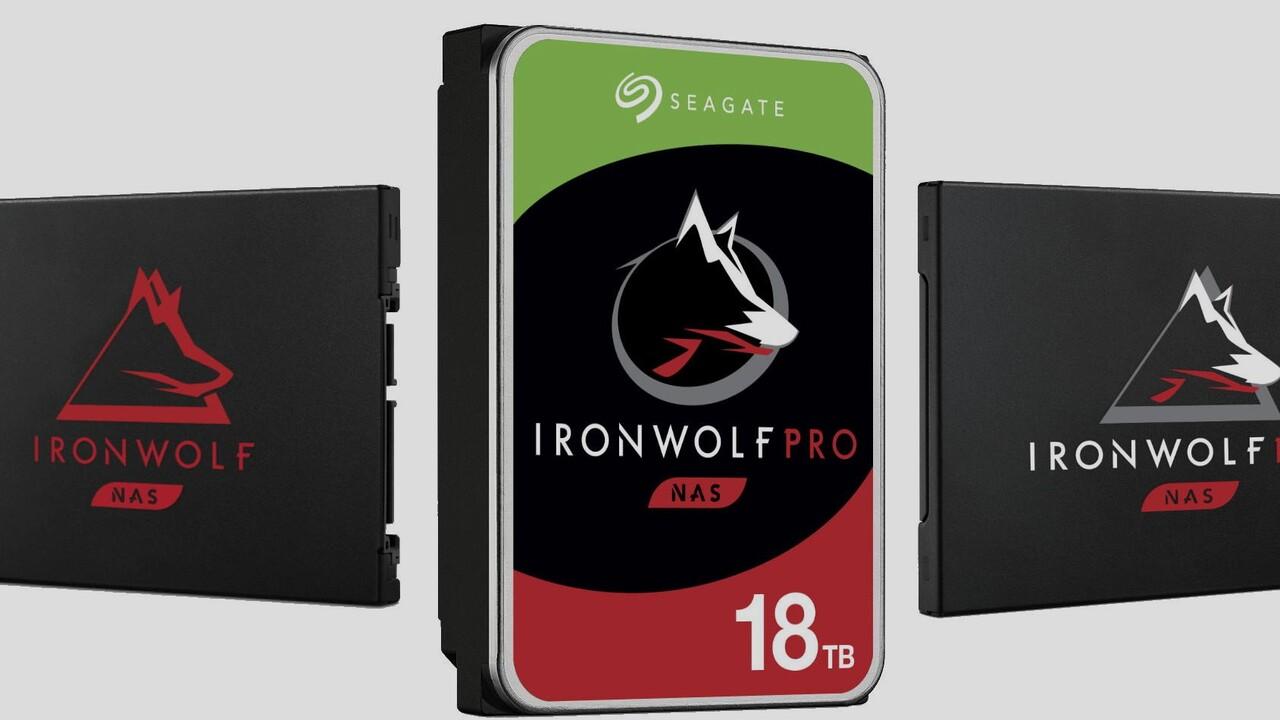 IronWolf: Seagate bringt 18-TB-HDD und SSDs bis 4 TB für NAS