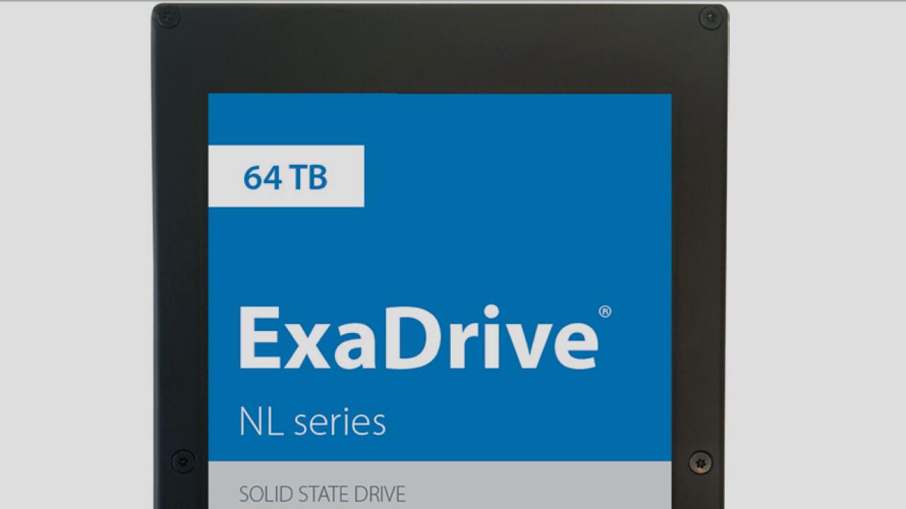 ExaDrive NL: Günstigere 64-TB-SSD soll Nearline-HDDs ersetzen