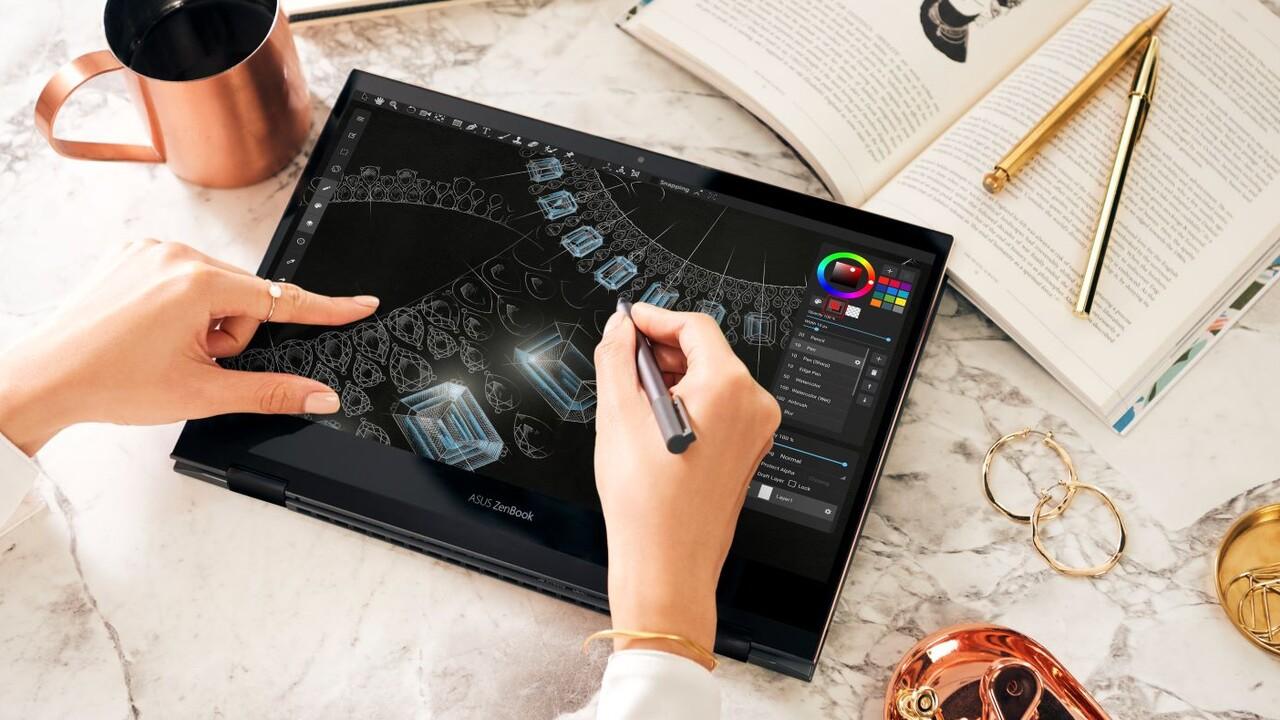 Asus ZenBook Flip S (UX371): Convertible mit 4K-OLED-Display und Intel Tiger Lake