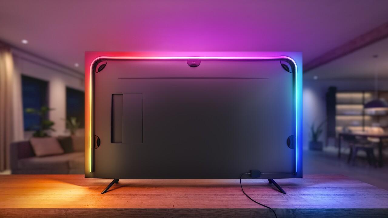 Hue Play Gradient Lightstrip: Philips' neuer LED-Strip bringt Ambilight für Fernseher