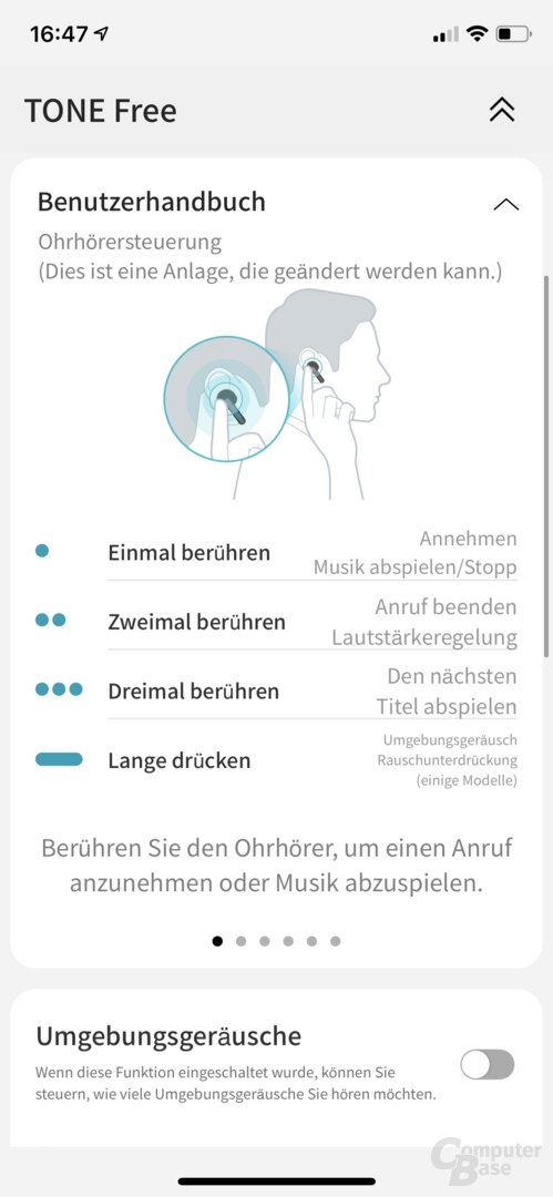 LG Tone Free App mit den LG Tone Free (HBS-FN6)