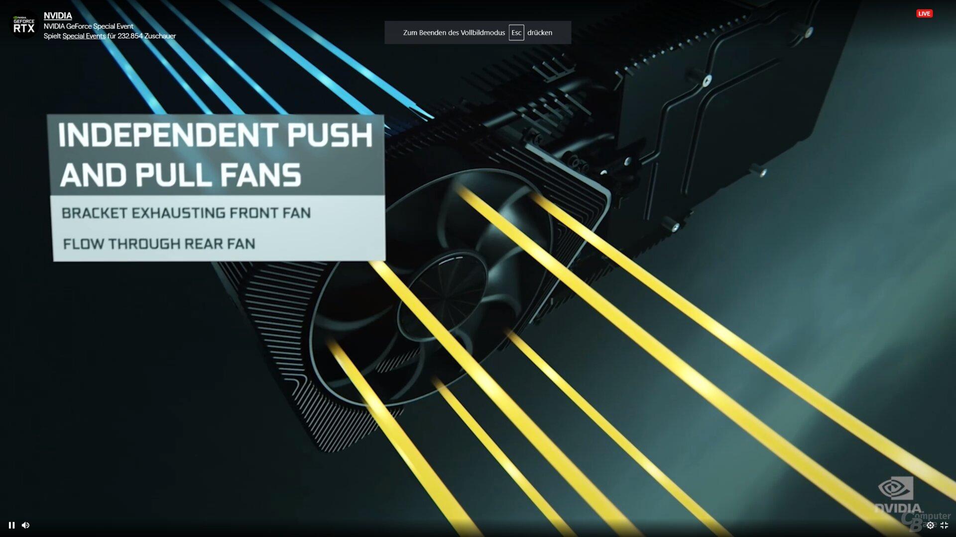 Kühlkonzept der GeForce RTX 3090/3080 FE