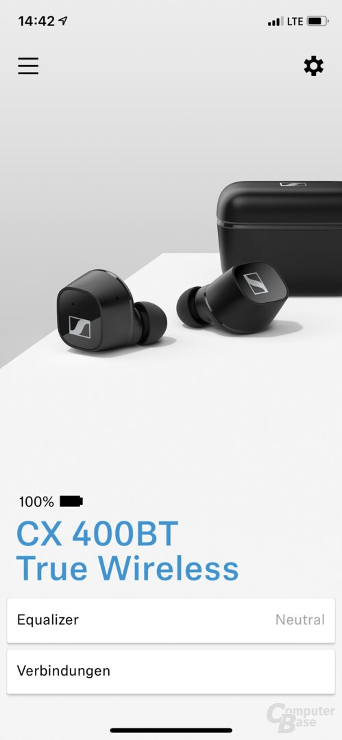 Sennheiser Smart Control App mit CX 400BT True Wireless