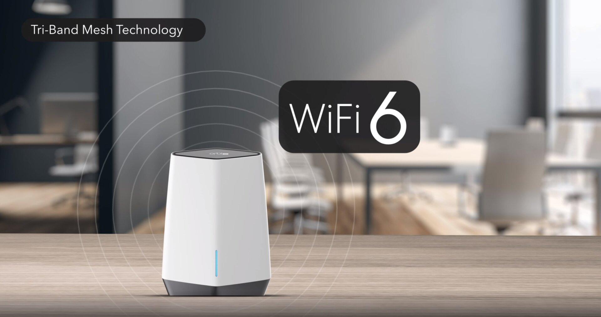 Netgear Orbi Pro Wi-Fi 6  – bei paralleler WLAN-Auslastung bis zu 6 Gbit/s beim Triband-Router möglich