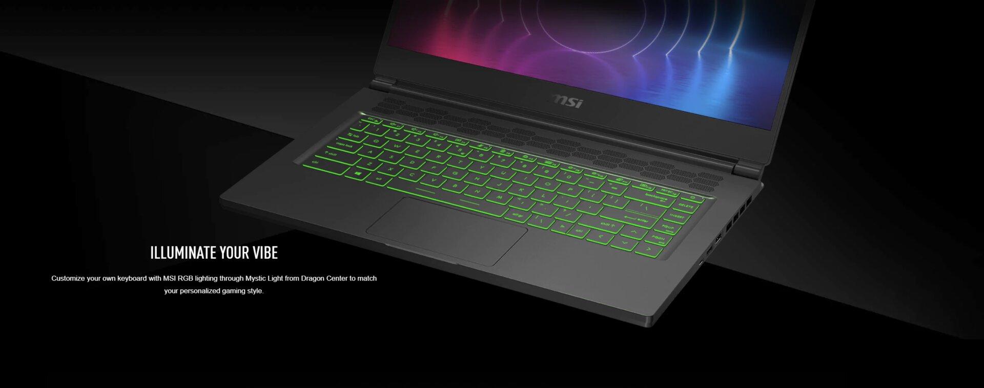 MSI Stealth 15M - RGB-Tastatur