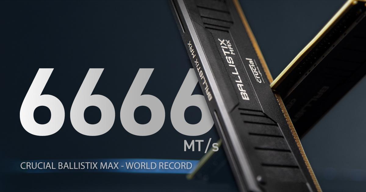 DDR4-5100@DDR4-6666 bedeuten einen neuen Weltrekord