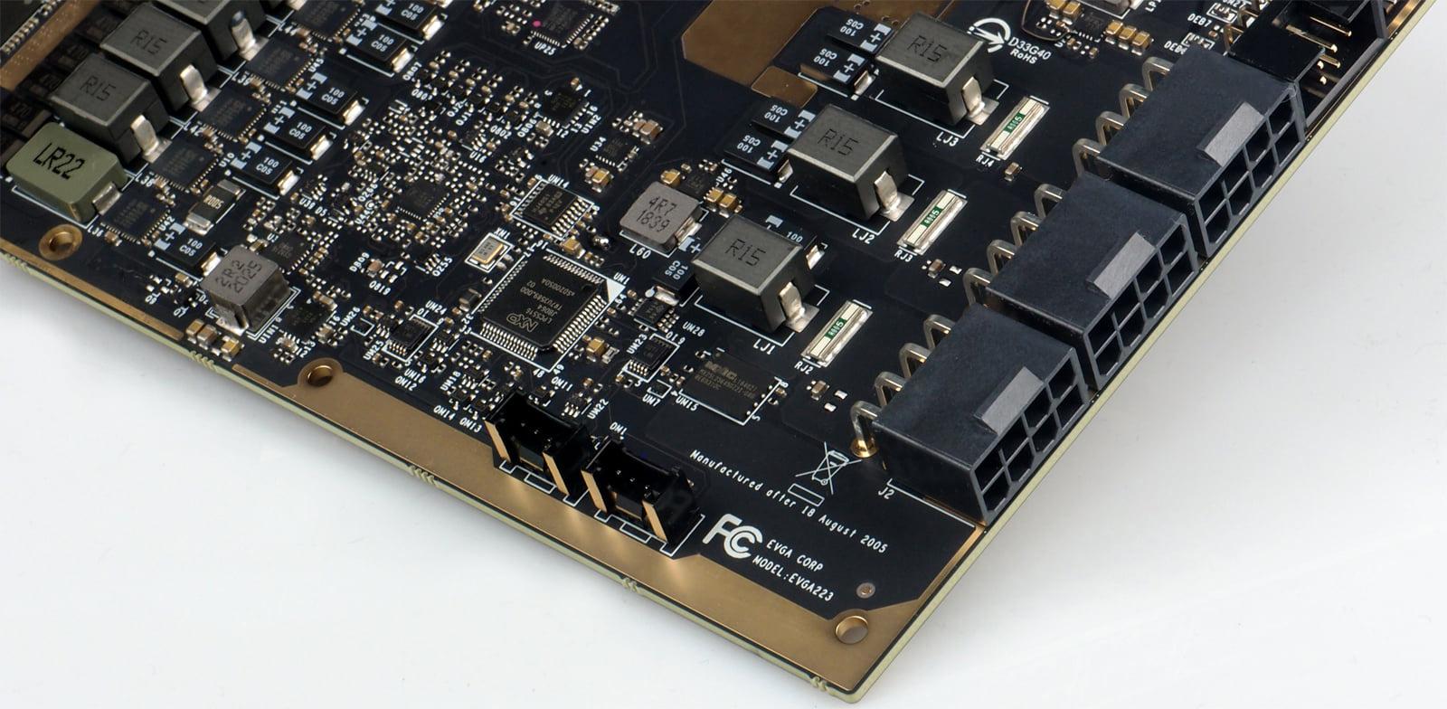 PCB der EVGA GeForce RTX 3090 K|NGP|N