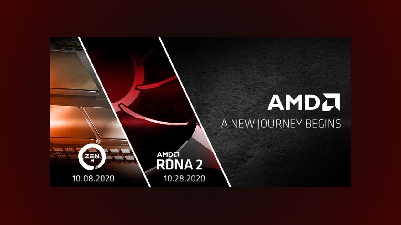 Termine: AMD enthüllt Zen 3 und RDNA 2 im Oktober