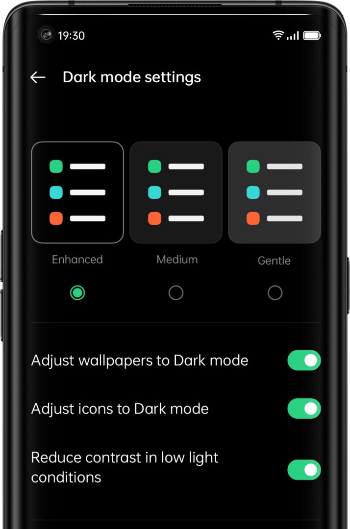 Anpassbarer Dark Mode