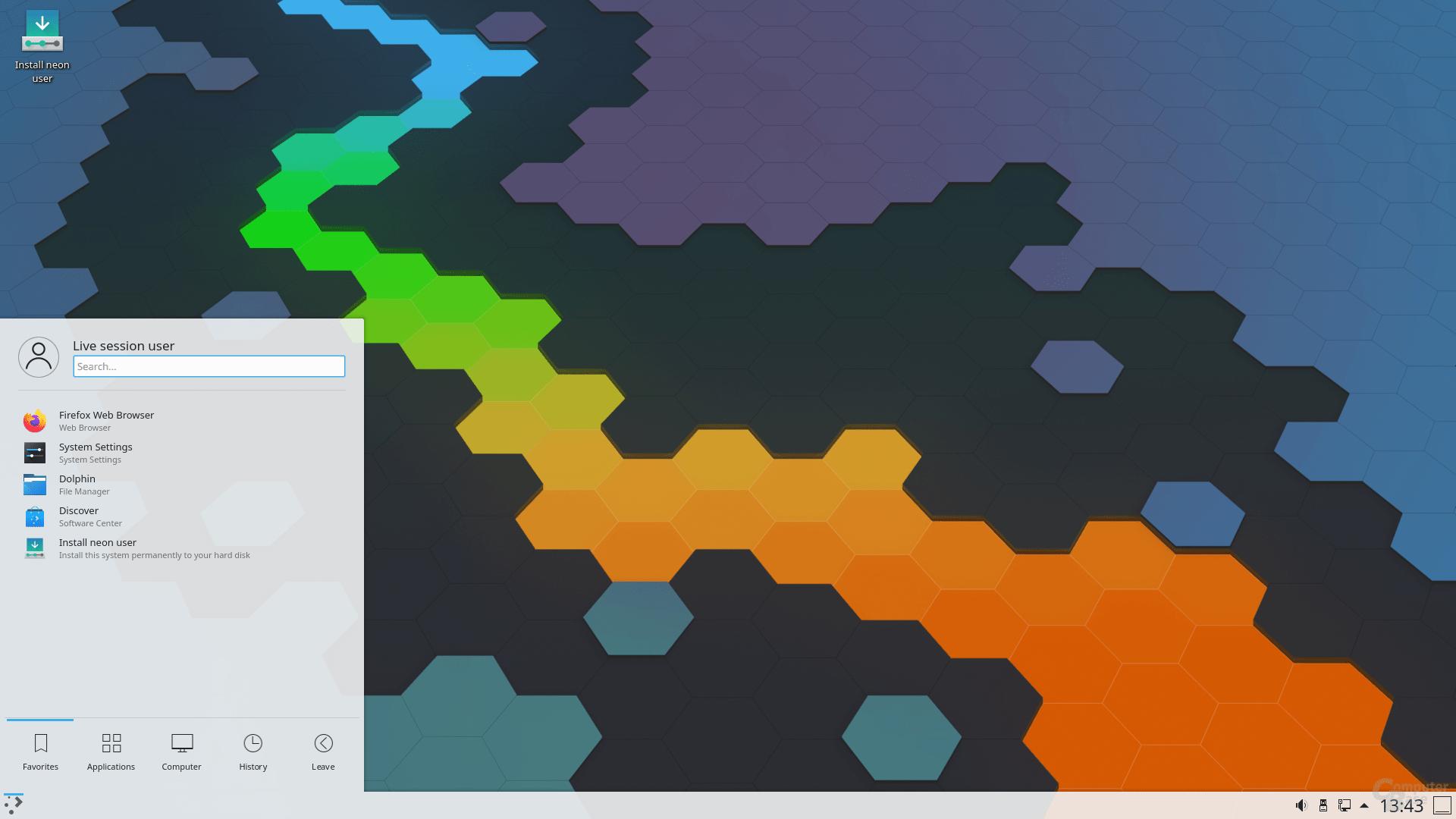 KDE neon mit Plasma 5.19.5