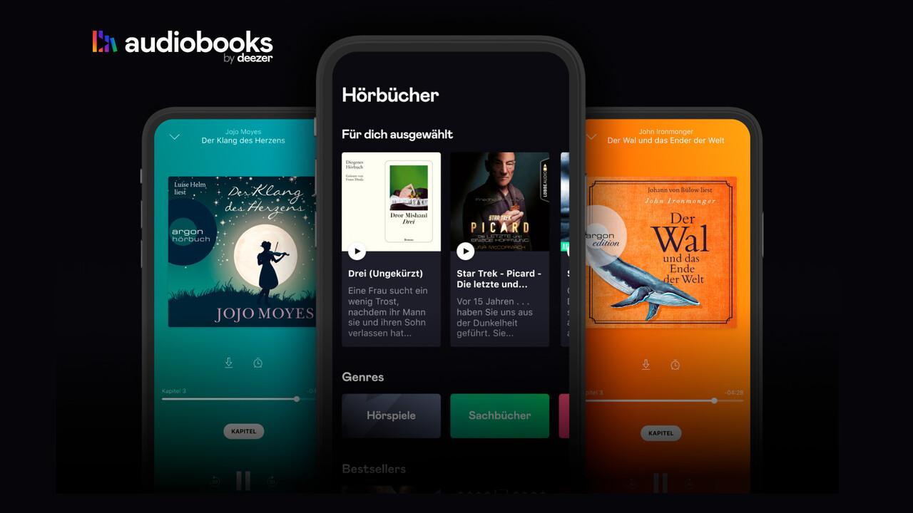 Audiobooks by Deezer: Eigene App für Hörbuch-Streaming