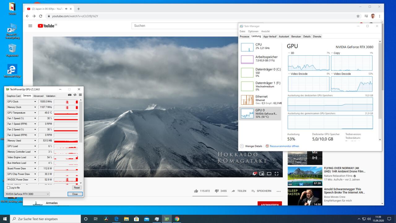 Nvidia GeForce RTX 3000: Amperes NVDEC beschleunigt 8K-AV1-Videos auf YouTube