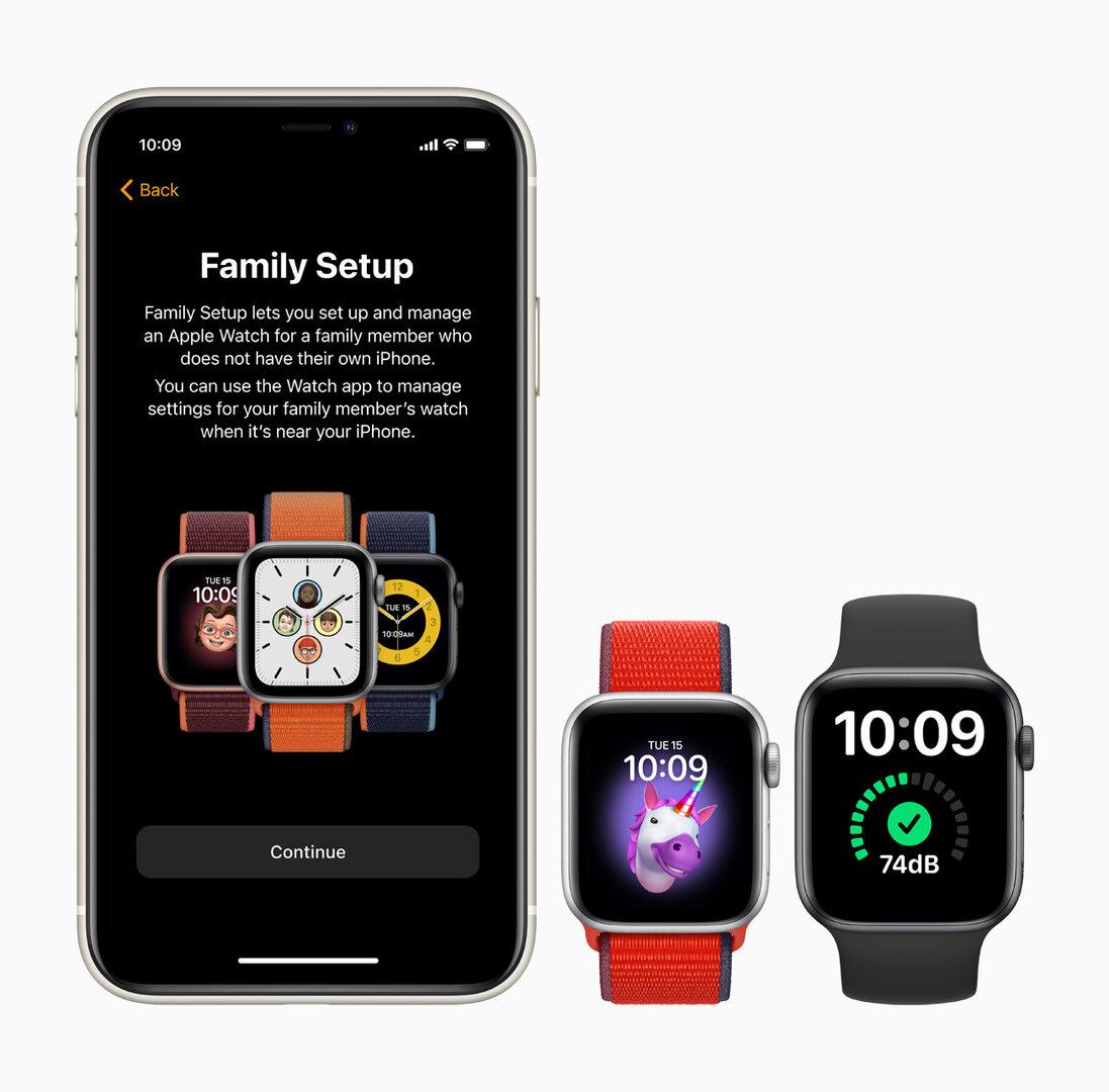 Family Setup für Apple Watch