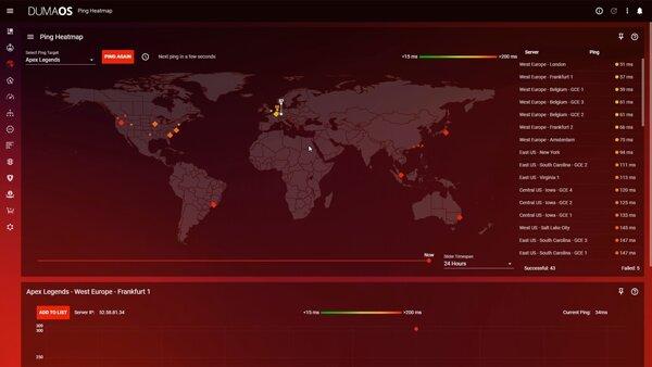 Netgear Nighthawk Pro Gaming XR1000 – Heatmap-DumaOS 3.0