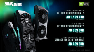 GeForce RTX 3080 Trinity: Zotac spricht von wochenlanger Wartezeit