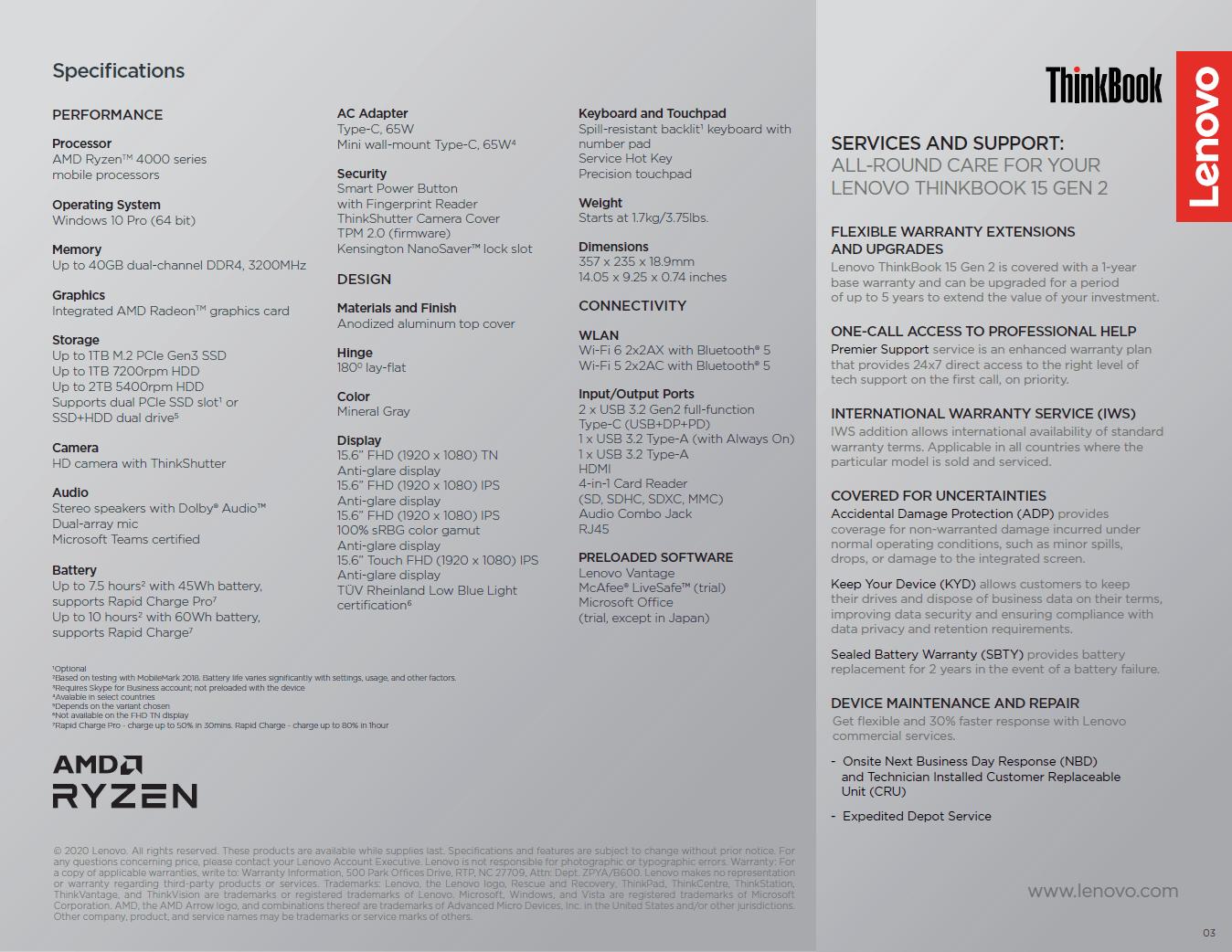 ThinkBook 15 Gen 2 ARE
