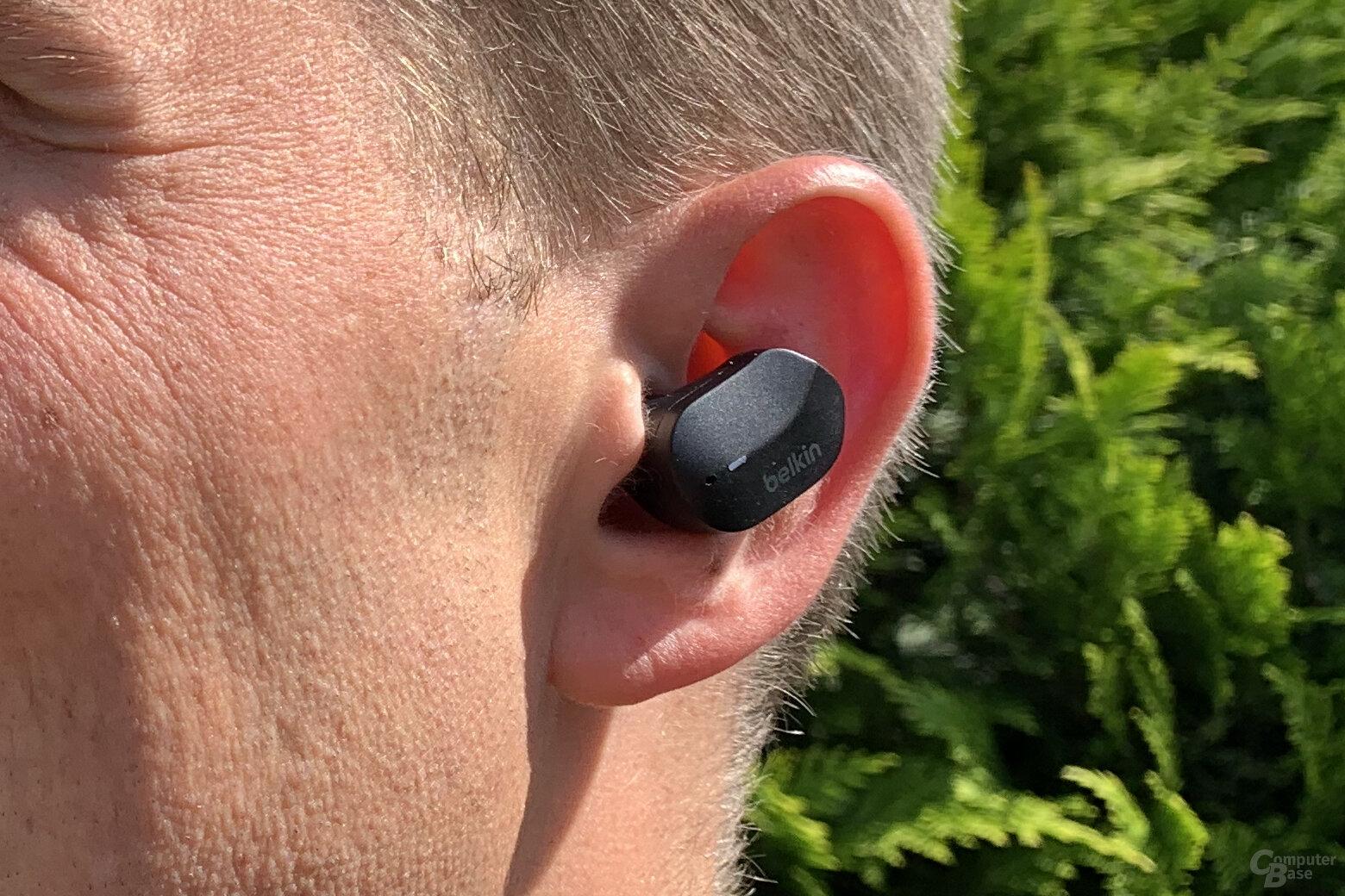 Tragekomfort der Belkin Soundform True Wireless