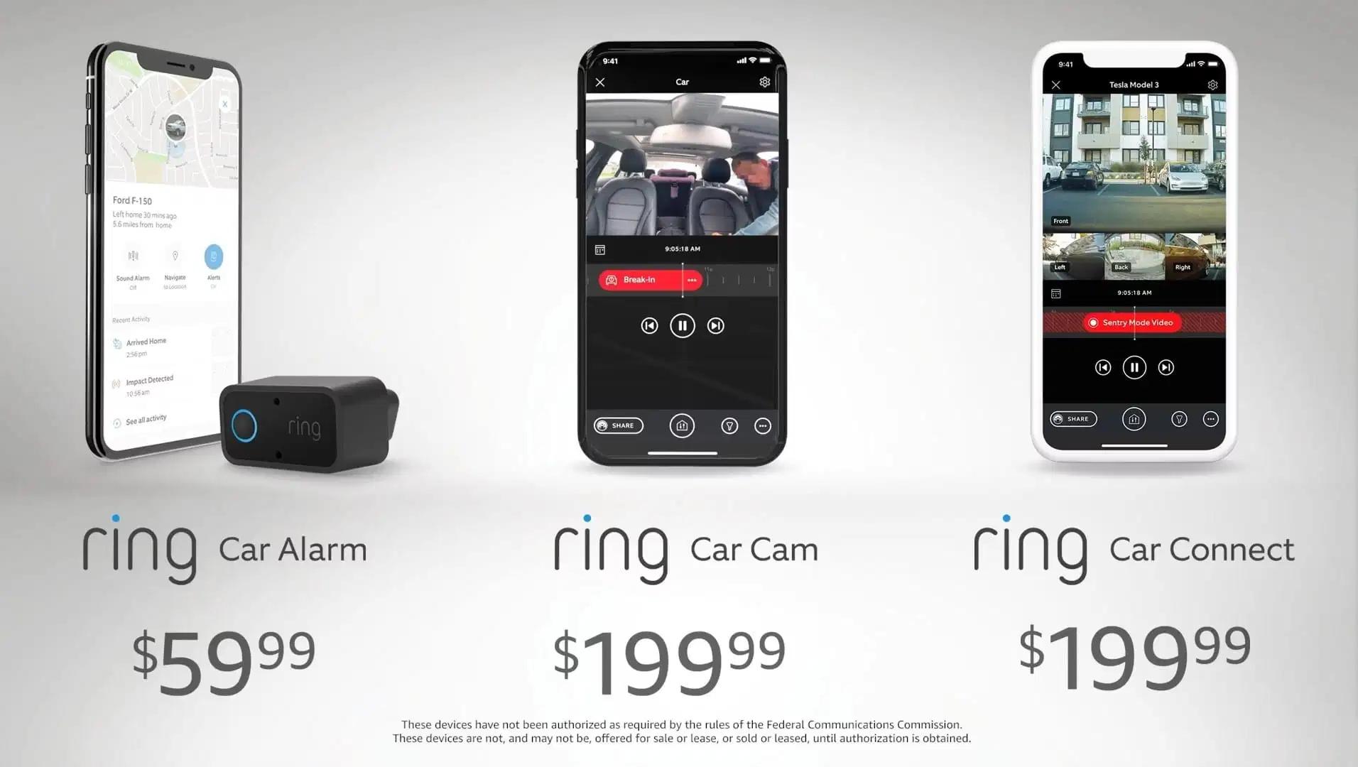 Ring Car Alarm, Car Cam und Car Connect