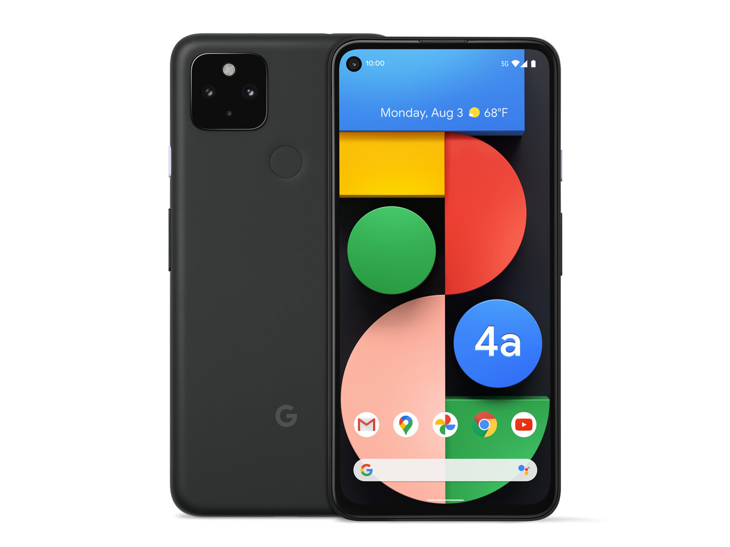 """Pixel 4a 5G in """"Just Black"""""""