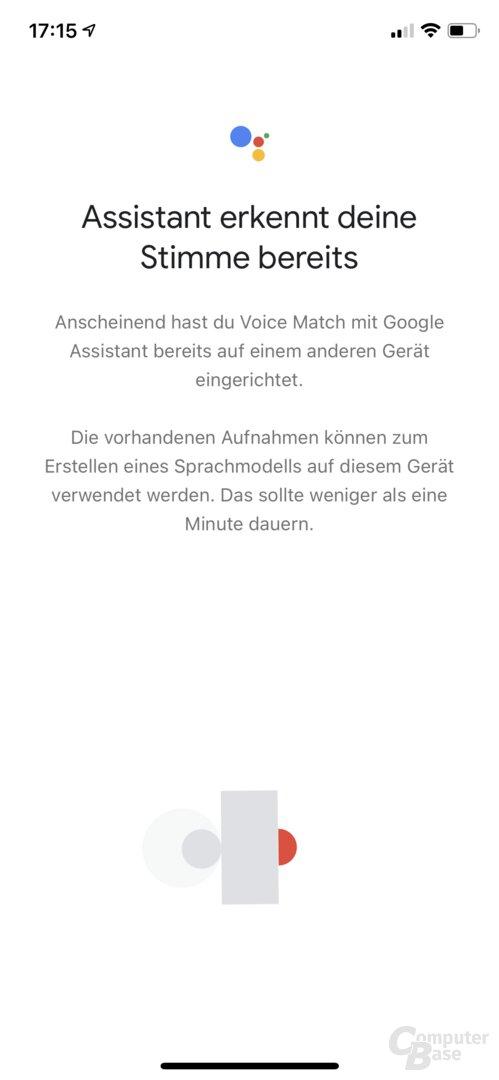 Einrichtung des Google Nest Audio in der Home-App